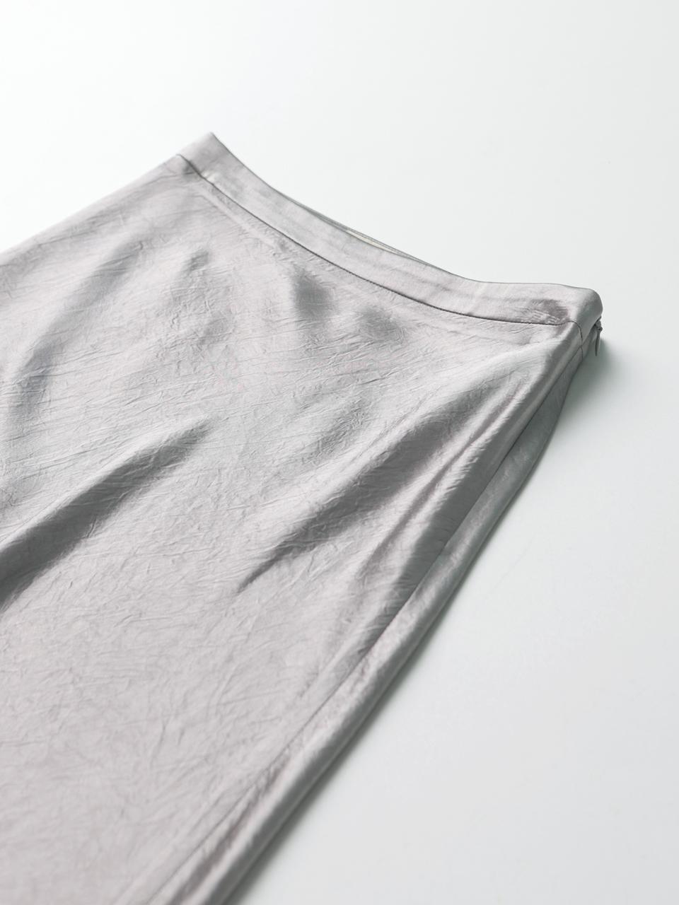 콜라보토리(COLLABOTORY) 링클 글로시 바이어스 스커트(3color)[BDAMA7003M]